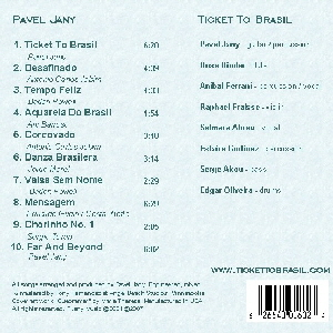 Pavel Jany Ticket To Brasil back